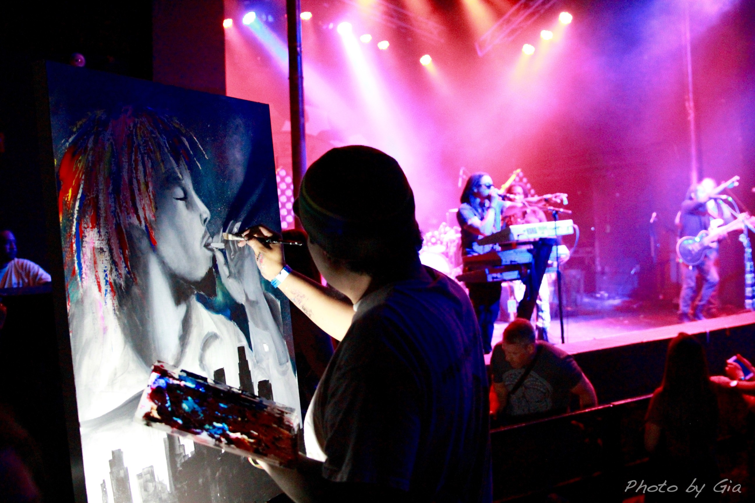 Another Live Painting During The Set Of New Kingston
