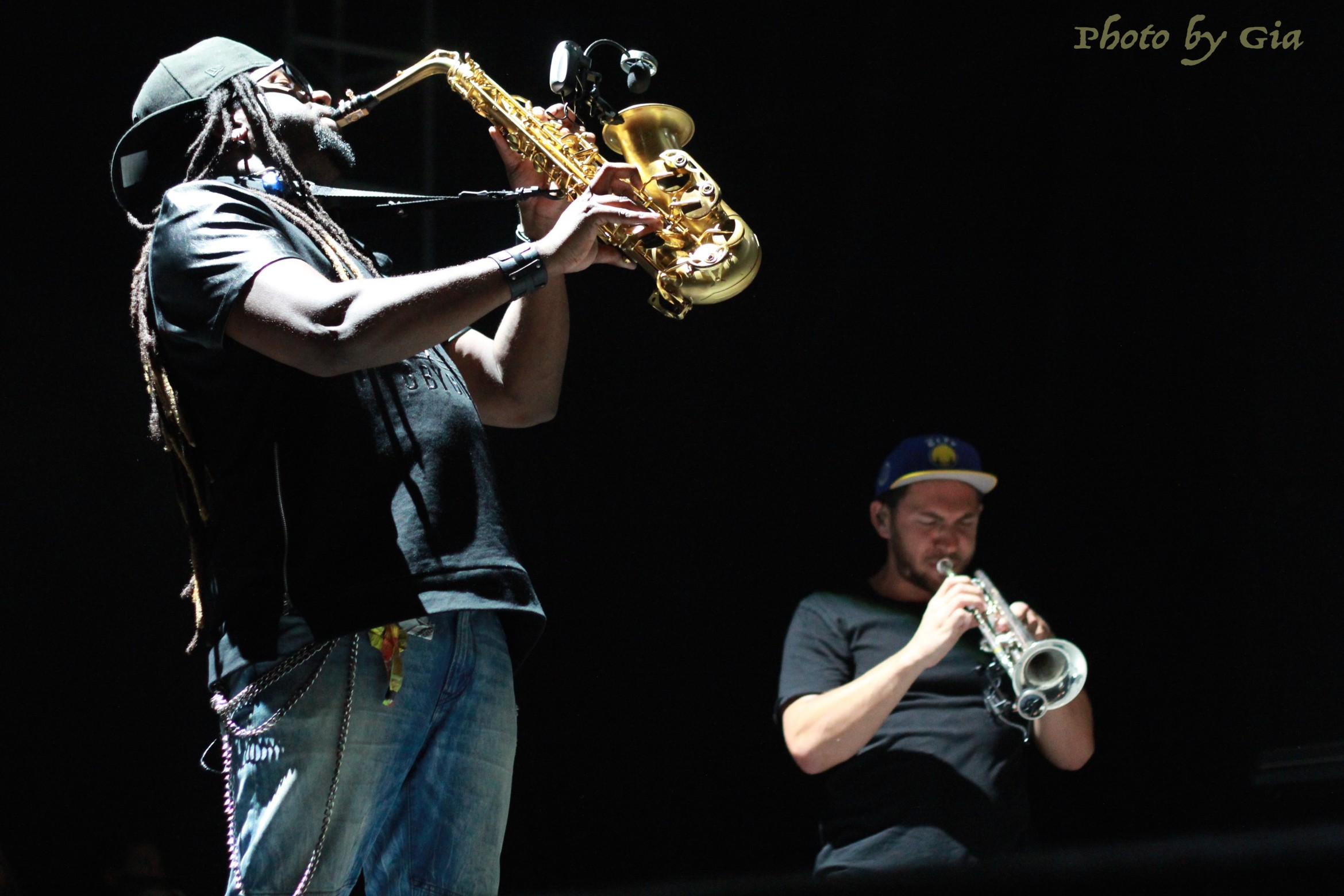 Khris Royal On Sax And Zach Meyerwitz On Trumpet, Killin' It!